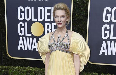 Cate Blanchett na předávání 77. Zlatých Glóbů.