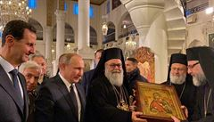 Putin zavítal poprvé od začátku syrské války do Damašku. S Asadem navštívili pravoslavný chrám i mešitu