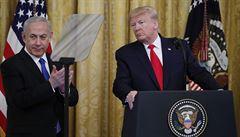 Trump navrhuje vytvoření nezávislé Palestiny, Jeruzalém by měl zůstat hlavním městem Izraele