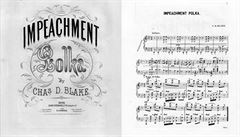 Hudba impeachmentu? Česká polka. Poslechněte si pozapomenuté dílo z roku 1868