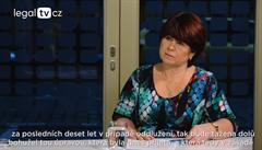 legalTV.cz: Mám velké obavy do budoucna, říká první dáma insolvence Maršíková