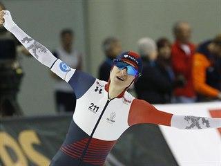 Rychlobruslařka Martina Sáblíková překonala na mistrovství světa v Salt Lake...