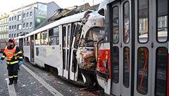 V Brně se srazily dvě tramvaje. Minimálně sedm lidí bylo zraněno, nehoda omezila dopravu