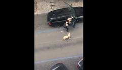 VIDEO: Pražský taxikář vyhodil z auta nevidomou ženu, vadil mu vodicí pes. Případ řeší policie