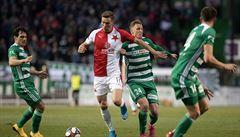 Fotbalisté Slavie poprvé v letošním ročníku fotbalové ligy prohráli. Bohemians podlehli 0:1