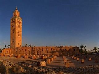 Minaret mešity Kutubíja v Marrakéši
