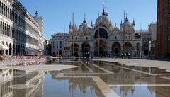 V italských Benátkách zaznamenali výrazný vzestup vody. V červnu jde o historicky třetí nejvyšší údaj