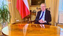 Zeman se vyjádřil ke koronaviru, poděkoval za pomoc Číně. Na shledanou v lepších časech, vzkázal divákům
