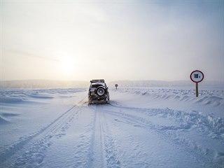 Cesta po zimníku po řece Léně
