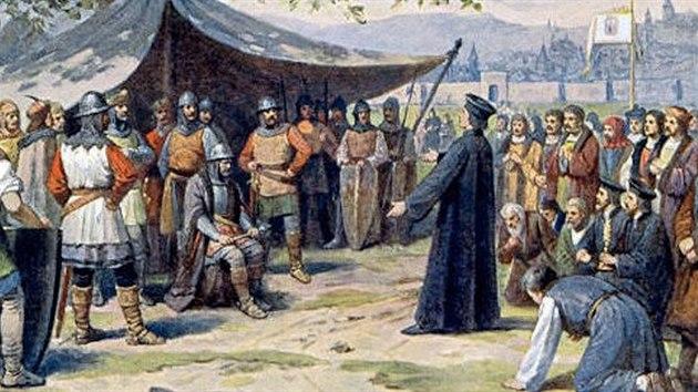 Bitva u Hradce zahájila válku mezi husitskými svazy. Slepý Žižka si až do své smrti vedl zdatně