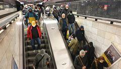 Na lince C nepojede metro mezi Pražského povstání a Muzeem. Výluka skončí 11. července