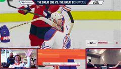 VIDEO: Gretzky versus Ovečkin. Hokejoví velikáni se střetli na virtuální ledové ploše