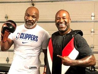 Mike Tyson během tréninku.