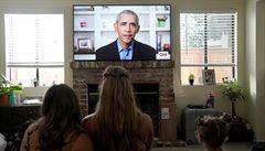 Obama v projevu kritizoval americké lídry. Podle něj jednoznačně nezvládli boj s koronavirovou pandemií