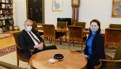 Zeman a jeho expertní tým se sejde s Maláčovou, budou řešit reformu důchodů a kurzarbeit