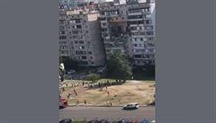 Výbuch plynu v Kyjevě si vyžádal nejméně jednu oběť, částečně se zhroutila čtyři patra