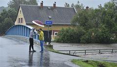 Silné deště zvedly hladiny řek na Frýdlantsku. Na Smědé a Řasnici platí stav ohrožení