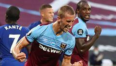 Nejdříve mu zkazil radost VAR, přesto se trefil Souček i podruhé. A West Ham přiblížil k záchraně