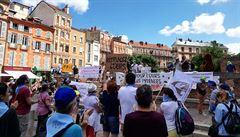 Ve Francii protestovali příznivci i odpůrci pyrenejských medvědů. Demonstrace podnítilo zastřelení samce