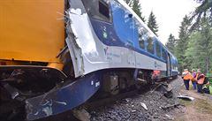 Ze střet vlaků u Perninku může podle inspekce strojvedoucí, vyjel bez souhlasu dispečera