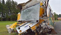 Jeden z poškozených vlaků je zatím na nádraží v Perninku, dráhy ho odvezou po silnici