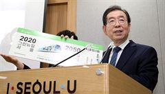 Pohřešovaného starostu Soulu našli mrtvého. Před smrtí čelil obvinění ze sexuálního obtěžování