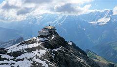 Švýcarský Schlithorn. Zažijete zde větší adrenalin než v 'bondovce'