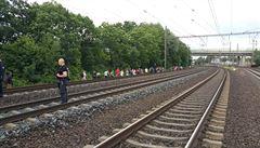 Provoz na trati u Chotýčan je obnoven, stovky lidí jely autobusy. Do trakčního vedení spadl strom