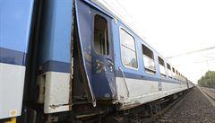 Vlaky po srážce v Běchovicích už jezdí bez omezení, škoda byla odhadnuta na více než pět milionů