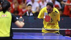 Přišel o obě ruce, pálku drží v ústech. Egypťan Hamato se chystá na další paralympiádu