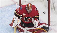VIDEO: Rittich v testu před NHL při prohře Calgary 1:4 inkasoval dvakrát za polovinu duelu