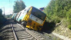 Vlak Českých drah projel v Lázních Kynžvart návěstidlo a vykolejil. Pendolino včas zastavilo