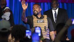 Americký raper West uspořádal předvolební mítink. Přišel v neprůstřelné vestě a rozebíral potraty