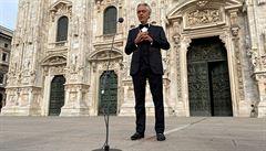 Andrea Bocelli zpochybnil nebezpečí koronaviru. Italy 'vyzval' k občanské neposlušnosti