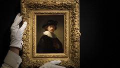 V Sotheby's dražili vzácná díla. Autoportrét Rembrandta se prodal za 420 milionů