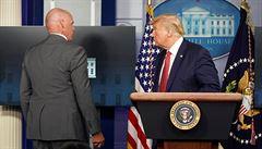Trumpa eskortovali z tiskové konference kvůli střelbě v blízkosti Bílého domu