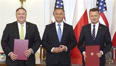 Do Polska vyšloudalší tisícovku amerických vojáků. Pompeo podepsal dohodu o prohloubení obranné spolupráce
