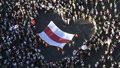 Česká solidarita s demonstranty v Minsku. Do ulic v Praze i Brně vyšly stovky lidí