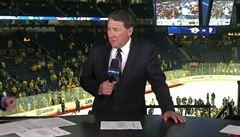 Bez žen je lepší koncentrace, tvrdil komentátor o formátu NHL. Výrok ho stál místo