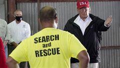 V Louisianě začal úklid po hurikánu Laura, místo katastrofy navštívil Trump