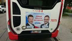 Řidič odmítl z rodinných důvodů jezdit s reklamou SPD na autobuse. Hrozila mu neomluvená absence