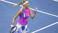 Kvitová postoupila bez ztráty setu. V osmifinále US Open si zahraje proti Američance Rogersové