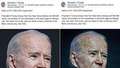 Trumpova kampaň měla upravit fotky, aby Biden vypadal starší. Udělaly z něho 'ospalce Joea'