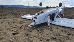 Na Písecku spadlo malé letadlo, při havárii zahynul jeden člověk. Druhý utrpěl těžká zranění