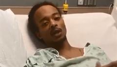 VIDEO: Bolí mě i dýchat. Postřelený černoch Jacob Blake popsal na videu svůj stav