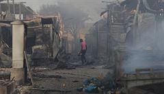 Uprchlický tábor Moria na ostrově Lesbos zničil požár, řecká vláda na ostrově vyhlásila mimořádný stav