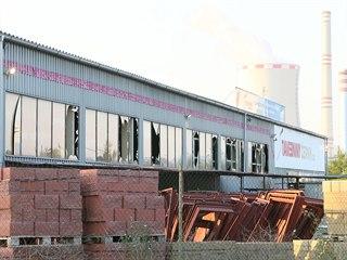 Výbuch munice v policejním muničním skladu v Bílině na Teplicku rozbil okna...