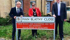 V anglickém Ipswichi pojmenovali ulici po českém básníkovi Ivanu Blatném