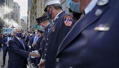 Biden a Pence si v New Yorku připomněli oběti útoků z 11. září, prezident Trump dojede na místo později