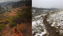 Bláznivé počasí. V jeden den panovalo rekordní teplo a Colorado bylo v plamenech, o 24 hodin později napadl sníh